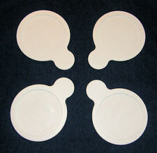 4 NEW Pyrex Corning Ware LIDS P-150 White Plastic GRAB IT LIDS Free SHIPPING