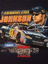 VINTAGE 2004 JIMMY JOHNSON NASCAR T SHIRT LARGE