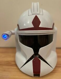 Star Wars Clone Trooper Commander Helmet - With Working Light and Sound - Rare