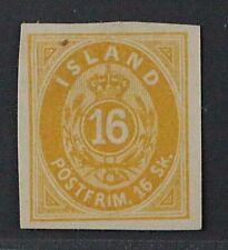 Island  5 C (*)  Erste Ausgabe 16 Sk. UNGEZÄHNT, ungebraucht, KW 380,- €