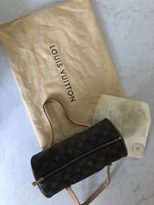 Auténtico Louis Vuitton Papillon Top Handle Tote Mono & Leather. EXC Estado