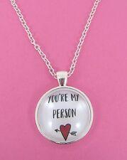 Giorno di S. Valentino SEI IL MIO CUORE di persona in vetro collana d'argento NUOVA Borsa Regalo