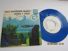 """1-ONLY-RARE-7""""-VENTIMILA LEGHE SOTTO I MARI-20,000 LEAGUES UNDER SEA BLUE VINYL"""