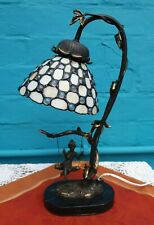 Cottage Flower Fairy Pixie Unique Tiffany Lily Widdop Figurine Table Light Lamp