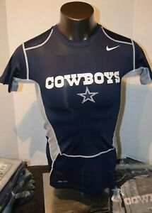 Dallas-Cowboys Nike On Field-Compression-Shirt-Cap Sleeve New Navy silver L-3XL