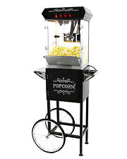 Paramount 8oz Popcorn Maker Machine & Cart - New Upgraded 8 oz Popper [Black]