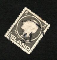 Iceland - Sc# 89 Used / #41 Clear Numeral Cancel   -     Lot 01211219