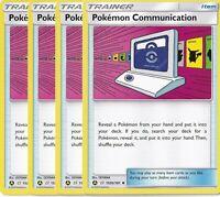 4x Pokemon Communication 152b/181 Playset from Pokemon Trainer's Toolkit NM