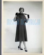 VINTAGE PHOTO 1955 Sexy Anne Francis Fashion Photo Coat and Scarf Rare original