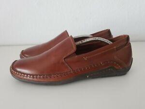 Pikolinos Loafer Slipper Halbschuhe Leder Schuhe Mokassins Cognac Gr 42