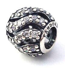 Authentic Pandora Winter Wisp Clear CZ Sterling Silver Bead Charm 791197CZ New