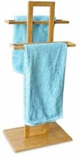 Bamboo Towel Stand Holder Towel Rails 37 X 25 X 85 Cm