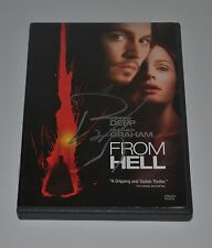 JOHNNY DEPP Autograph FROM HELL Hand Signed  DVD MOVIE
