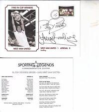 BILLY BONDS & TREVOR BROOKING HAND SIGNED COMMEMORATIVE COVER