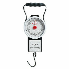 "Berkley Fish Scale w/ 39"" Measuring Tape Analog 50lb. Portable Fishing Scale"