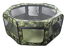 "62"" Large Portable Puppy Pet Dog Soft Tent Playpen Folding Crate Pen New - Camo"