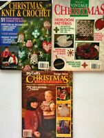 3 McCall's Knit and Crochet Christmas Magazines Knit Crochet Vintage Ornaments