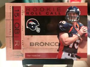 Denver Broncos - Tim Tebow - Rookie RC 2010 Panini Playoff Contenders #2
