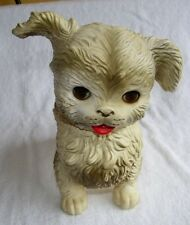 Vintage 1960's Edward Mobley Dog Toy with Blinking Eyes & Squeaker