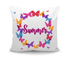 Personalised Printed Custom Butterfly Wreath Filled Cushion with Inner
