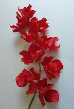 Red orange phalaenopsis orchid stem. silk flower floral arrangements
