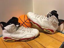 954b1cdb3bd0de 2010 Nike Air Jordan VI 6 Retro WHITE VARSITY RED INFRARED BLACK Size 8 (No
