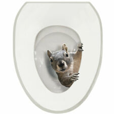 Exclusive It's a Squirrel! Toilet Seat Lid Tattoo Cover - Round