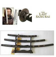 """The Last samurai"" Japanese Samurai Sword Katana Wakizashi Tanto Blade set of 3"