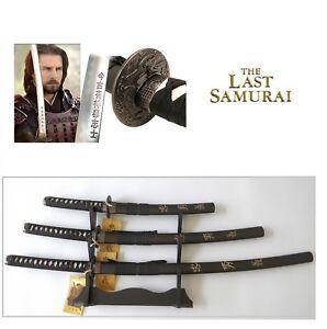 """The Last Samurai"" Japanese Samurai Sword Katana Wakizashi Tanto Blade set of 3"