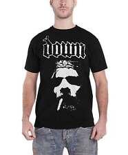 Down Mens T Shirt Black Smoking Jesus Face band logo official
