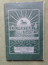 More details for c.1900 artists materials lechertier barbe's price list & catalogue 95 jermyn st
