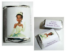 120 PRINCESS TIANA BIRTHDAY PARTY CANDY WRAPPERS LABELS FAVORS
