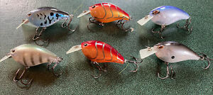 6 PIECE LOT  STORM ARASHI SQUARE BILL CRANKBAIT CRAWFISH BASS FISHING PIKE
