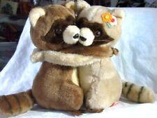 "DAKIN  VINTAGE 1979  Hugging Raccoons  9""  Plush   EUC   KOREA  Rare"