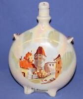 Vintage Romaninan Folk Hand Painted Ceramic Pitcher