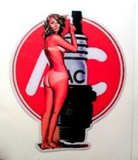AC Delco pinup girl sticker decal hot rod rat rod vintage look car truck drag