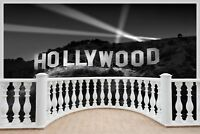 Huge 3D Balcony Hollywood Sign Wall Stickers Film Decal Wallpaper 383