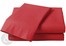Polycotton Solid Contemporary Fitted Sheets