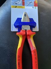 KNIPEX 02 06 180 INSULATED HIGH LEVERAGE COMBINATION PLIERS VDE 1000v Germany