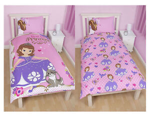 Childrens Disney Sofia The First Amulet Single Reversible Rotary Duvet Bed Set