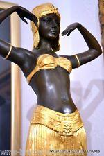 GRANDE ART DECO BRONZO FIRMATO Chiparus figura in bronzo Bronzo BRONZO FIGURA
