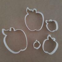 Apple Fondant Cutters - Set Of 5 Fruit Autumn Shape Mini Small Sugarcraft Icing