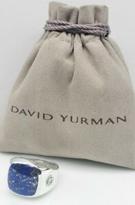 Dsvid Yurman Exotic Stone Signet Ring with Lapis Lazuli sz 11