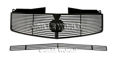 Fit 2003-2007 Cadillac CTS Black Perimeter Grill Insert Combo Pack