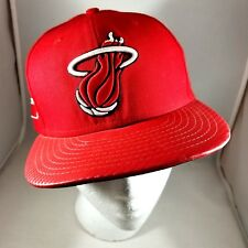 Men's Miami Heat Cap 59/Fifty Brand Size 7-1/4 (not adjustable) Red Wool