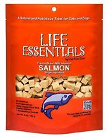 Cat-Man-Doo Life Essentials Dog & Cat Salmon Treats 5oz Reseal Bag Made in..