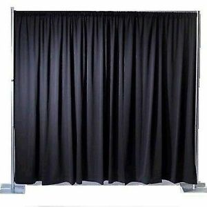 Pleated Backdrop Drape for Stage Theatre or Club Any Size Any Colour