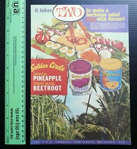 1963 vintage ad GOLDEN CIRCLE Pineapple Beetroot COD Cannery Northgate Brisbane