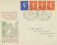 GB 1956 38th Philatelic Congress of GB BRIGHTON Special Event Postmark VF cover