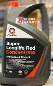 Comma Super Longlife Red - Antifreeze Concentrate 5L (SLA5L) new